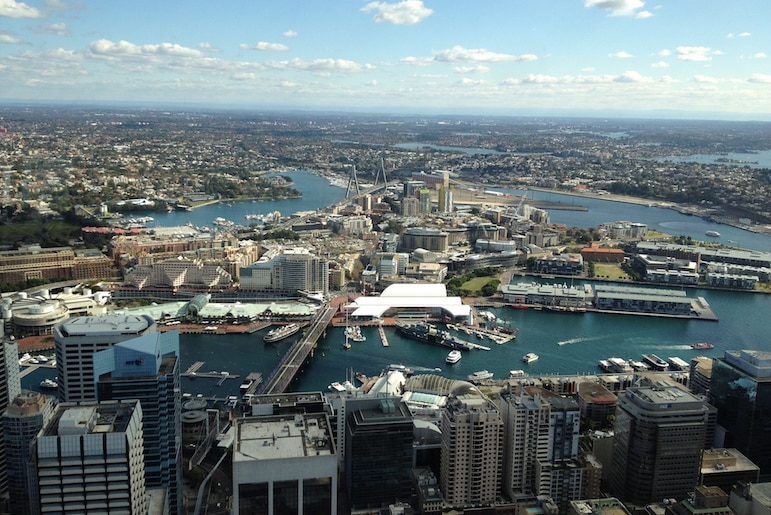 View from the Sydney Tower Eye | Pic Pablo Rodriguez