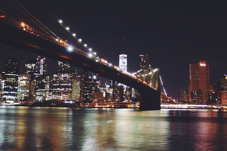 New York travel tips - view key sights of New York by night with a dinner cruise