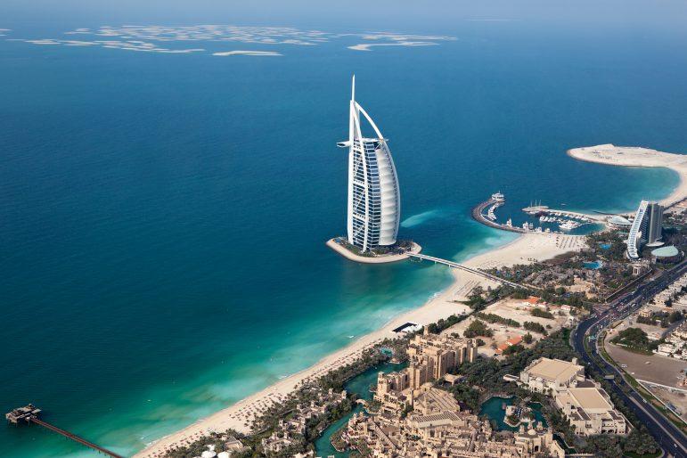 The Burj Al Arab from above | pic: Sam Valadi