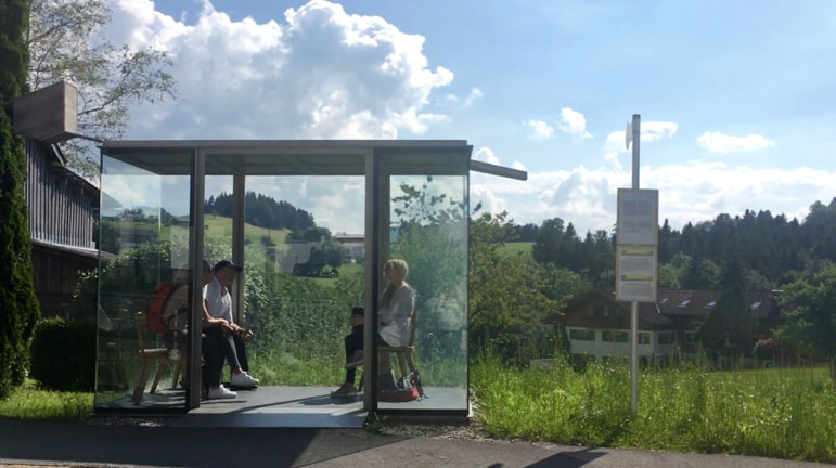 Zwing may look like an average bus stop, but this is in Krumbach - one of the quirkiest towns in Austria