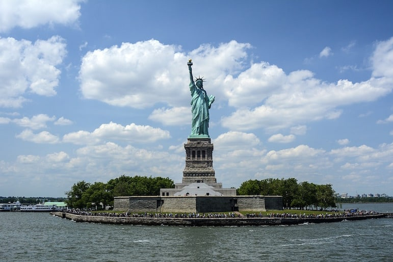 Capture the Statue of Liberty from a range of places, angles and modes of transport