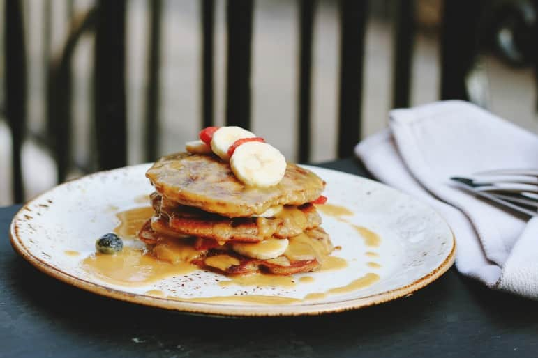 Affordable Las Vegas bottomless brunch stack of pancakes