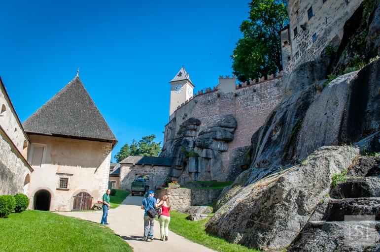 Burg Rappottenstein, in Lower Austria, is built on solid granite