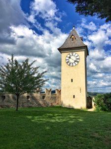 Clock tower at Burg Rapporttenstein