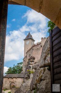 Entering the gates at Burg Rappottenstein Waldviertel