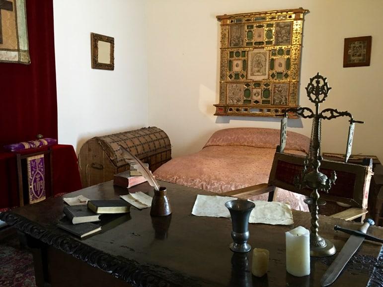 Exploring Cervantes' home, in Esquivas, while on the trail of Cervantes' Don Quixote de La Mancha