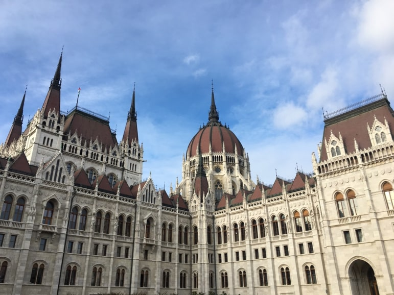 Places to go in Budapest - tour the parliament building
