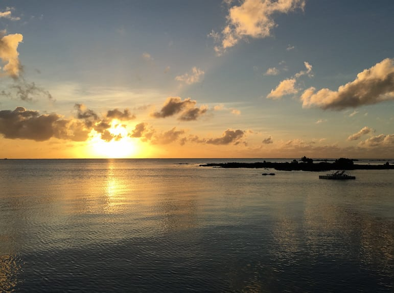 Sunset at the Paradise Cove Boutique Hotel