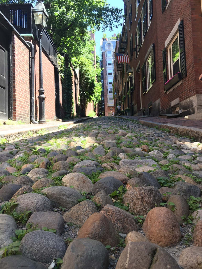 Pretty Acorn Street in Boston