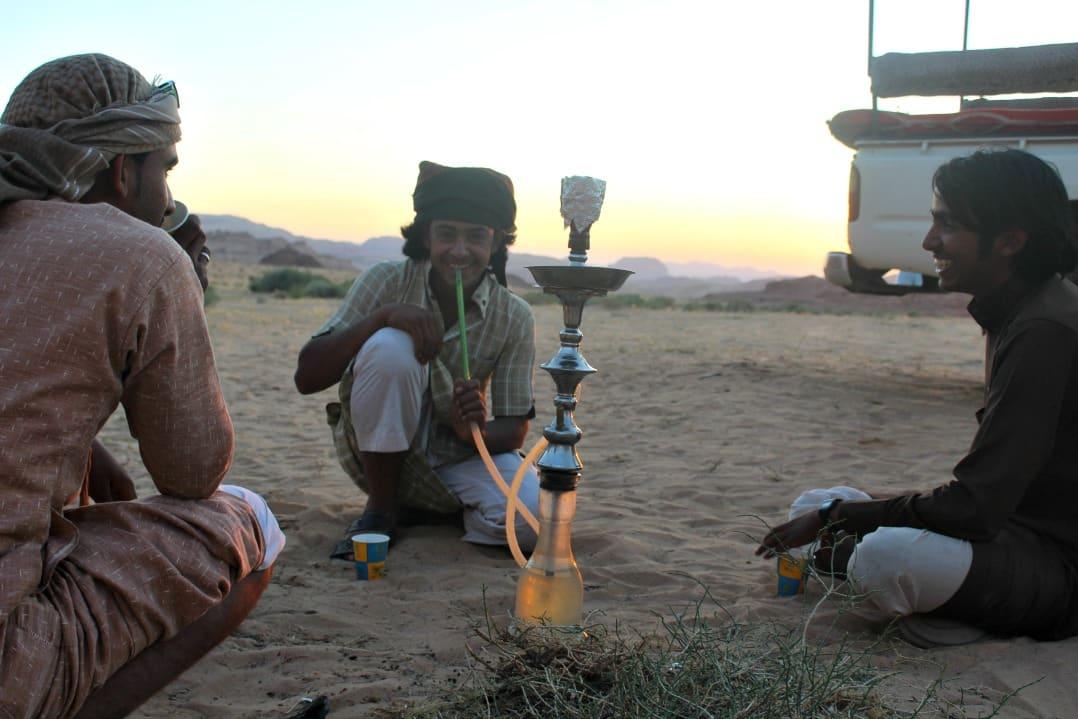 Jordab - Bedouins smoking Shisa Wadi Rum