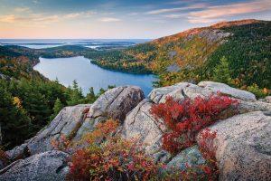 MAINE: Jordan Pond Acadia National Park,