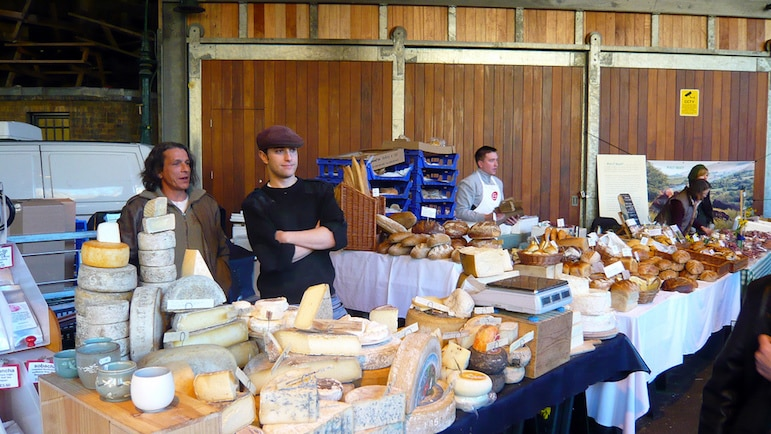 London travel tips - discover London's best food markets, such as Borough Market