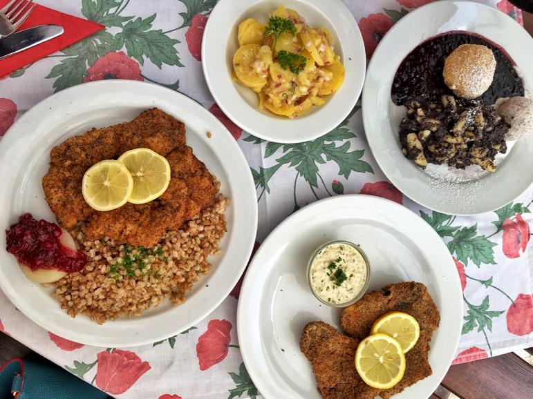 Mohnwirt lunch at Neuwiesinger restaurant the Poppy Village
