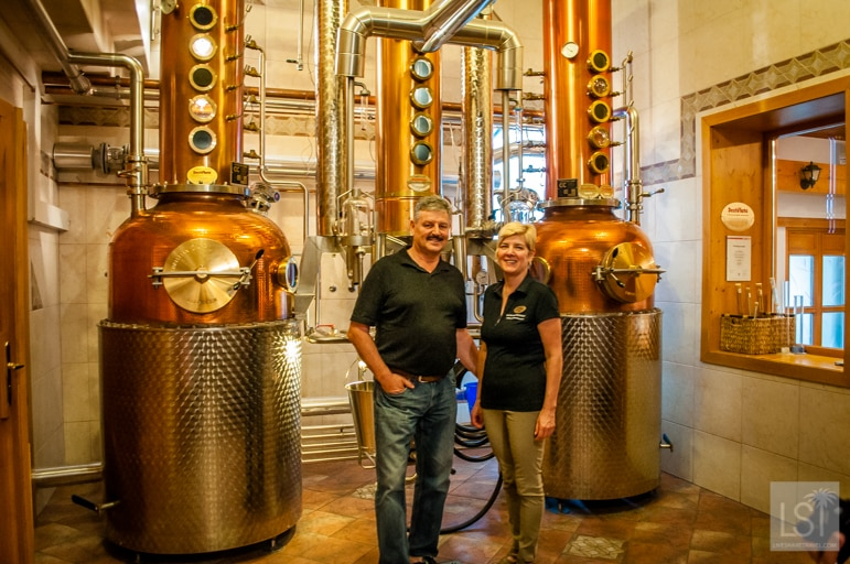 Mr and Mrs Haider owners of Waldviertler Whisky World