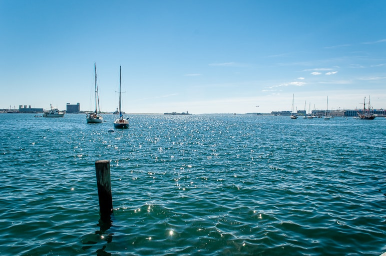 Boston Harbour on the New England coast