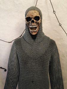 Skeleton in chainmail in Burg Rapporttenstein
