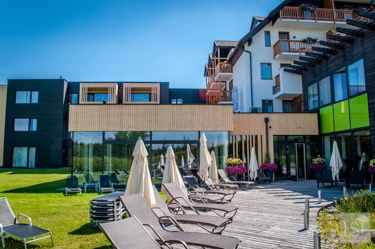 Sun deck at Hotel Schwarz Alm Zwettl