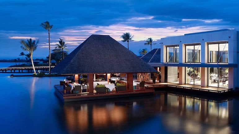 Sunset at the Four Seasons in Mauritius