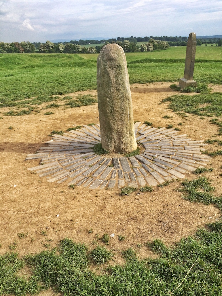 The Stone of Destiny on the Hill of Tara, part of Ireland's Ancient East