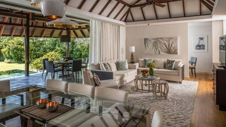 The luxurious three-bedroom garden residence at Four Seasons