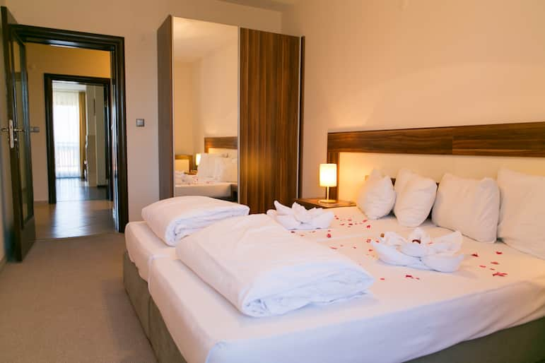 Bedroom at the Balkan Jewel Resort