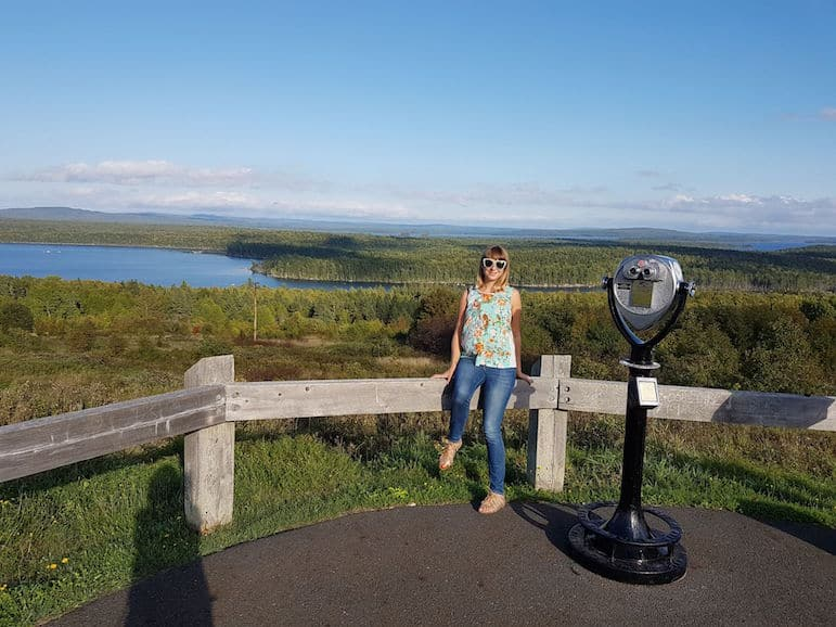 Places to go in Maine - Ella at the Millon Dollar View