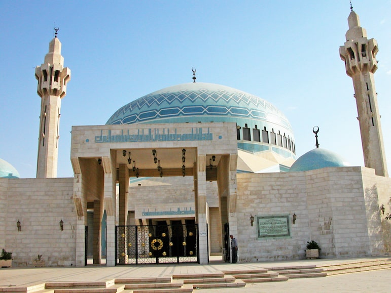 King Abdullah I Mosque, in Amman, Jordan pic: Dennis Jarvis