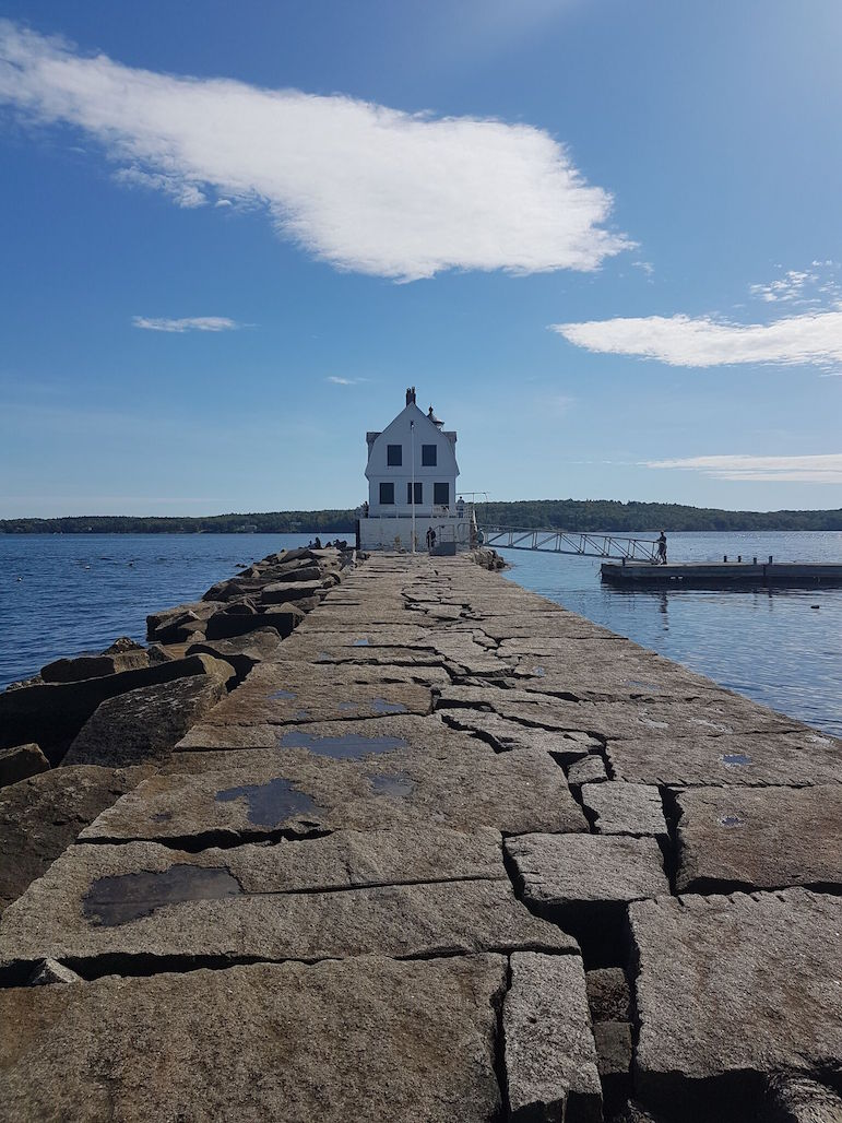 Places to go in Maine - Rockland breakwater