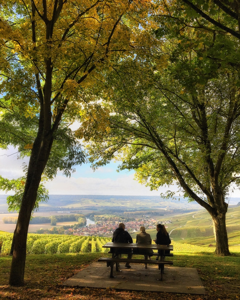 Glorious countryside of the Champagne region France