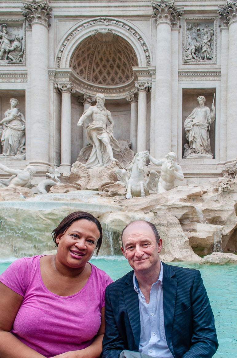 On our return to the Trevi fountain - one of our favourite attractions in Rome