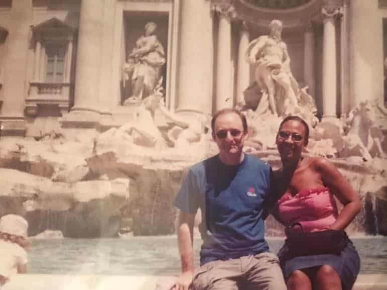 Our first trip to see the attractions in Rome - yes, this is an old print, and faded over time