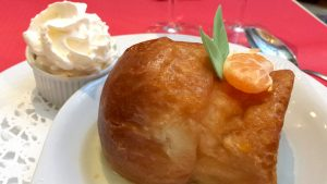 Rum baba at the Cafe du Palais