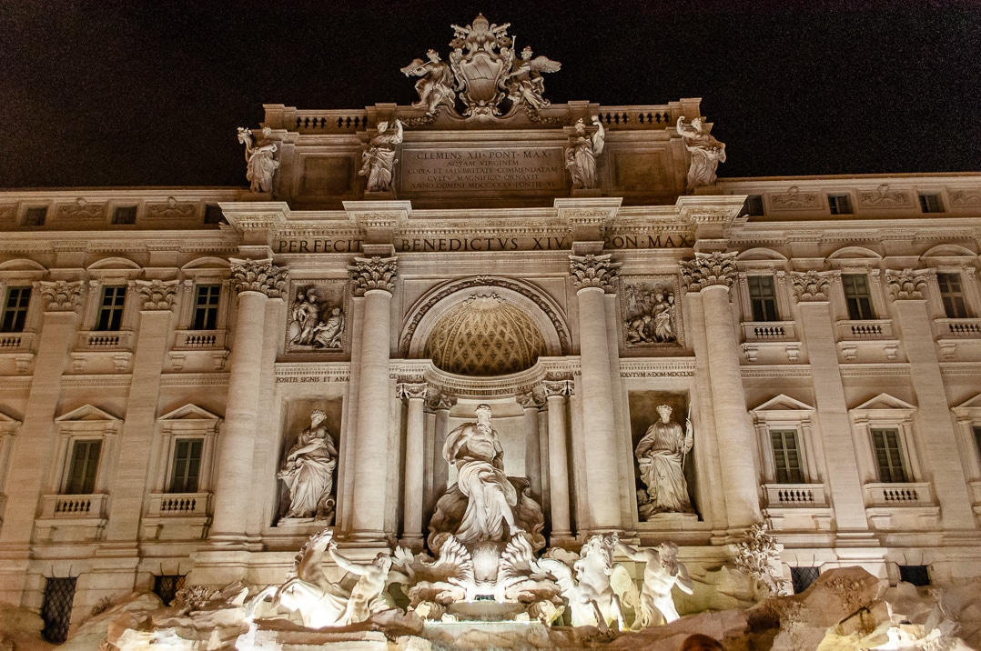 The Trevi Fountain on of the many attractions in Rome