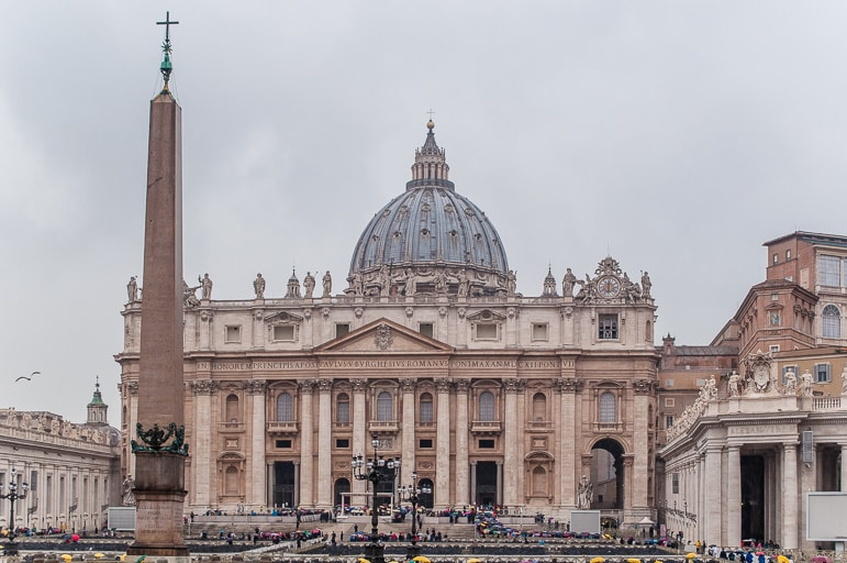 The grandeur of St Peters Basilica at the Vatican