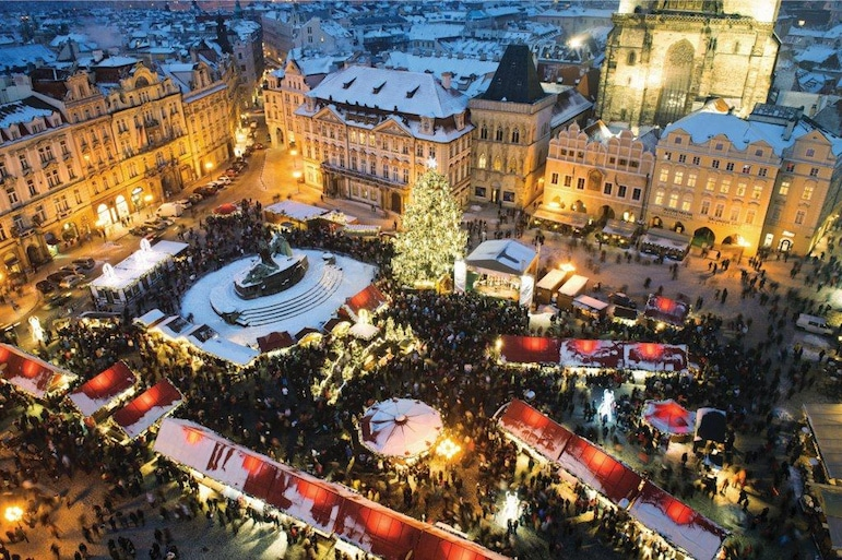 The fairy tale markets of Prague provide a romantic setting for a festive escape, and the city is home to some of Europe's best Christmas markets | Pic: Roderick Eime