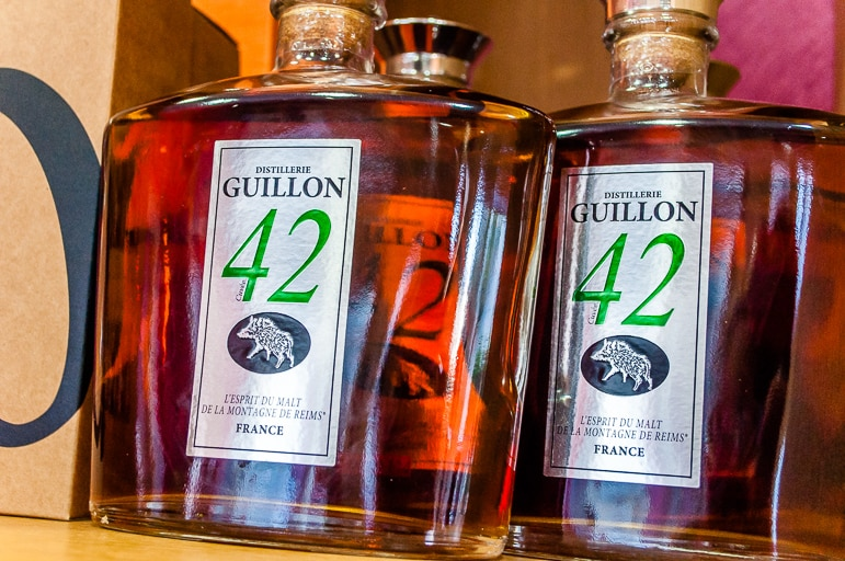 We sampled Distillerie Guillon, however, here it is not called whisky, but Spirit of Malt