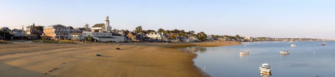 A taste of Cape Cod USA - Provincetown, view from main beach | pic: Robert Linsdell