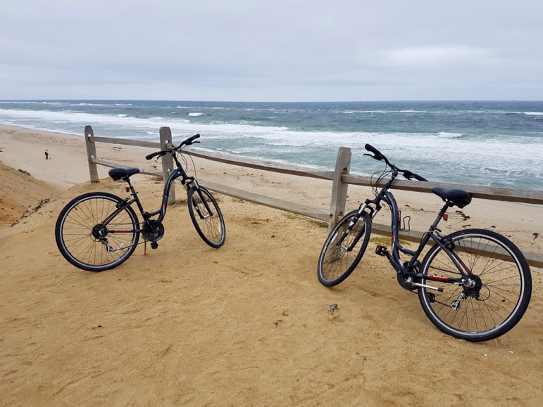 Cape Cod travel - cycling to Le Count Beach