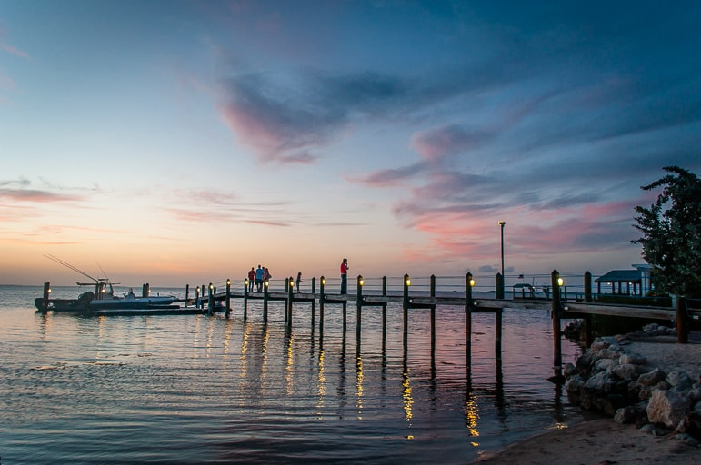 Cool things to do in the Florida Keys - catch dinner and the sunset at Marker 88, in Islamorada
