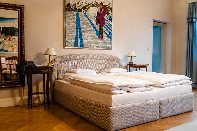 Our room at the Schlossberg Hotel, Graz