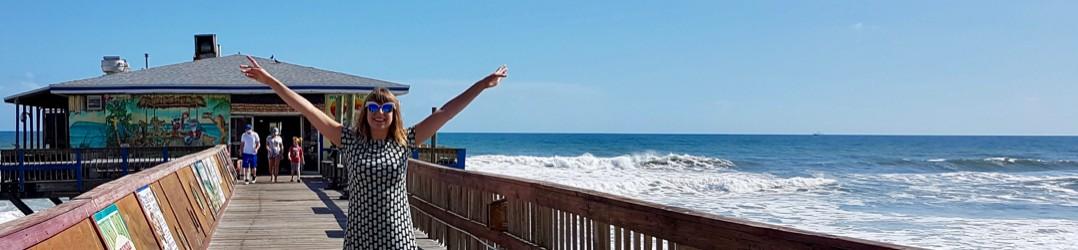 Daytona Beach attractions - Ella making the most of Sunglow Pier