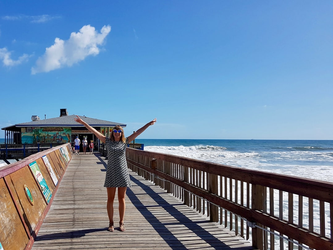 Daytona Beach attractions - Ella making the most of Sunglow Pier