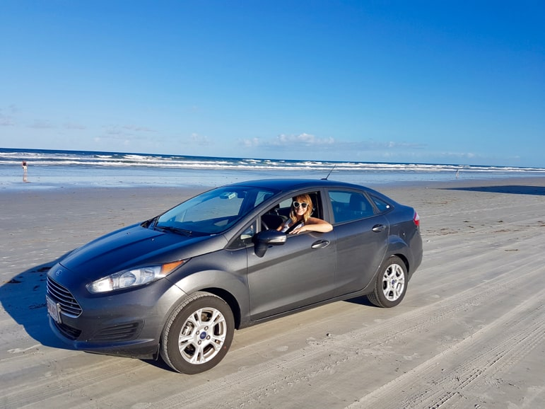 Driving on beach one of the unusual Daytona Beach attractions