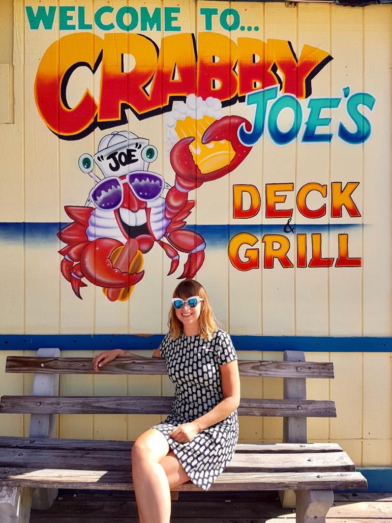 Ella at Crabby Joe's in Daytona Beach