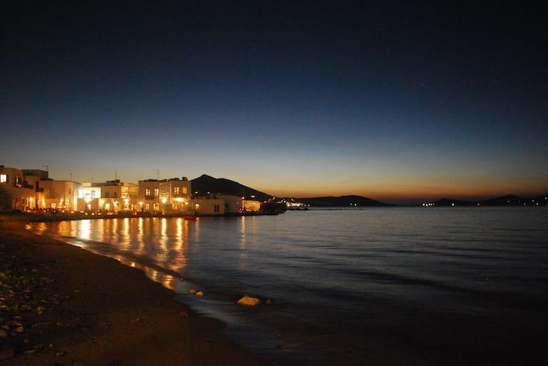 Paros comes alive at night | Pic Nikos Roussos