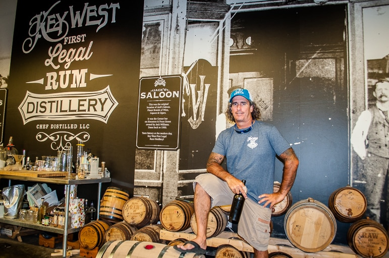 Paul Menta of Key West First Legal Rum Distillery