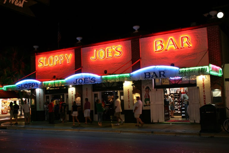 Things to do in the Florida Keys - call in for a drink at Sloppy Joe's Key West | pic: Ray LAC