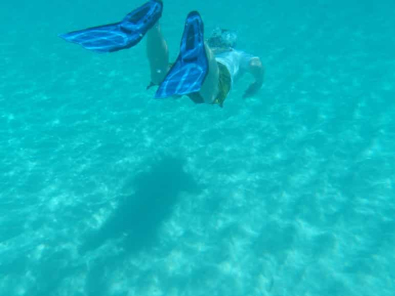 2017 best travel destinations - man snorkelling in anguilla