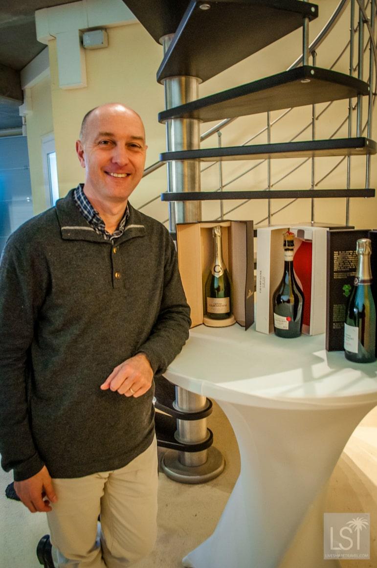 Bertrand Lhôpital of J.De Telmont, producers of the Ateliers champagne.