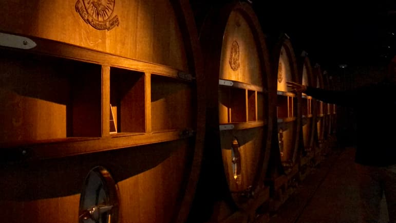 Champagne and wine cellars at J.De Telmont